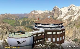 Piz Gloria - part of the Eiger 3D park for X-Plane