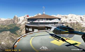 Piz Gloria - part of the Eiger 3D park for X-Plane