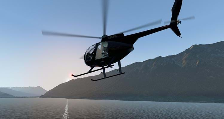 2FlyRealDynamics for the freeware Hughes 500D for X-Plane