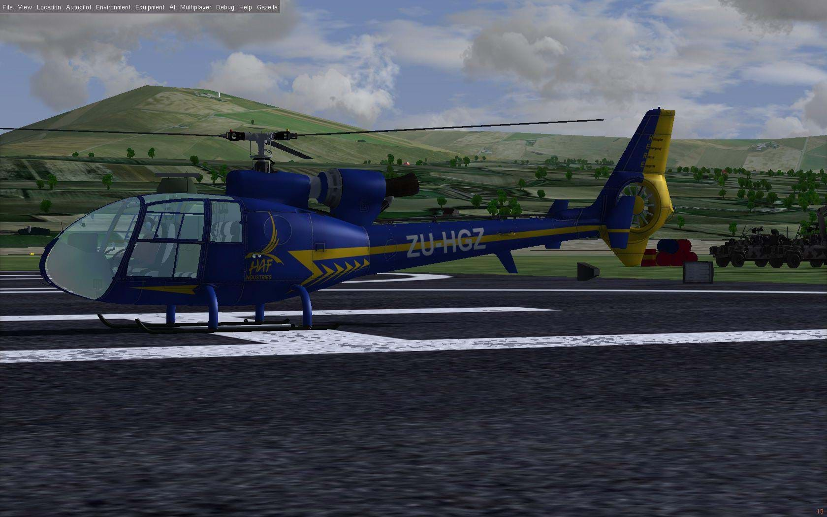 FGUK Gazelle for FlightGear is now available • HeliSimmer com