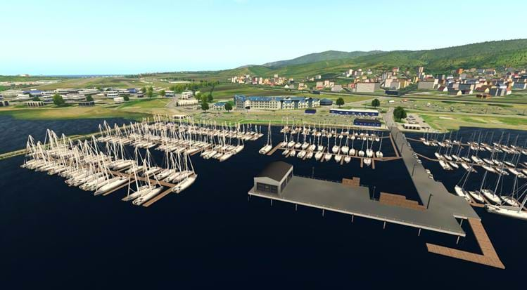 Half Moon Bay - KHAF for X-Plane - marina