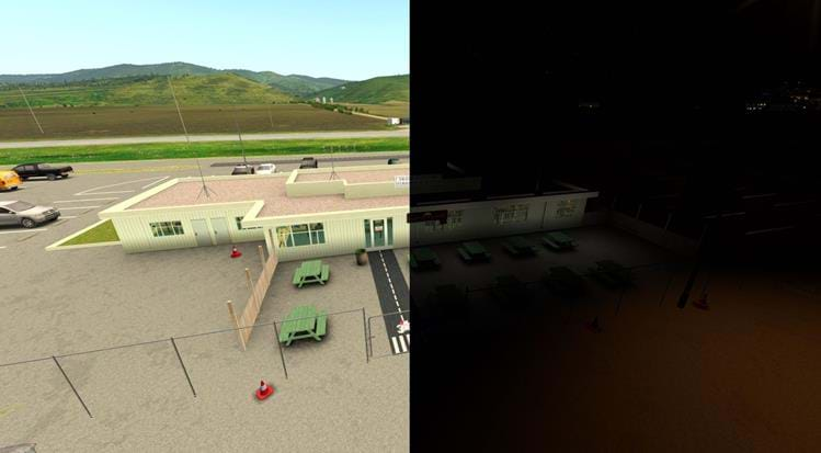 Half Moon Bay - KHAF for X-Plane - 3 zero cafe day and night
