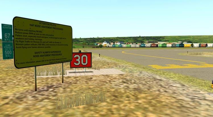 Half Moon Bay - KHAF for X-Plane - airport signs