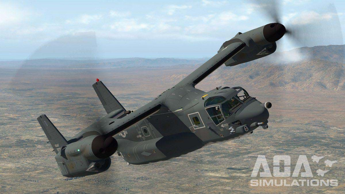 AOA Simulations released their V-22 Osprey for X-Plane 11