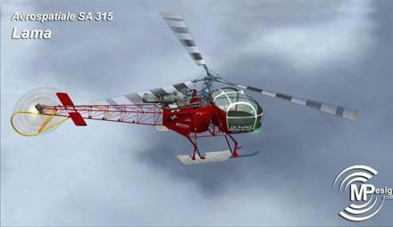 MPDesign Studio announces SA 315 Lama for FSX/P3D, hints development for X-Plane