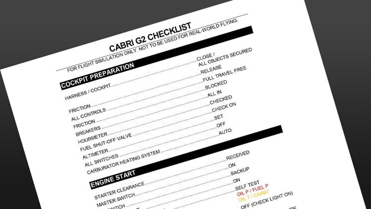 Guimbal Cabri G2 Checklist