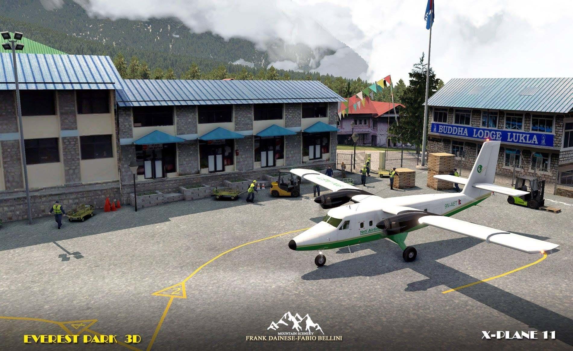 Men at work: Frank Dainese shows progress on Lukla for X-Plane