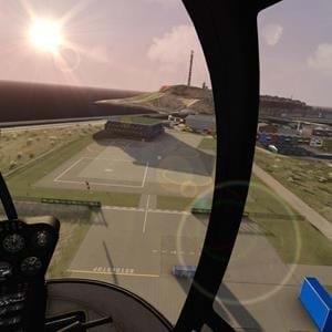 Helgoland scenery for Aerofly FS2 is now helicopter-ready