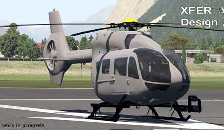 Check out the first (WIP) screenshots of the XFER Design H145 in X-Plane