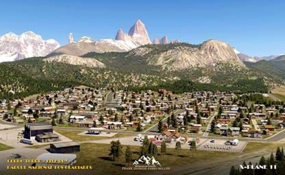 Frank Dainese and Fabio Bellini show screenshots of El Chalten