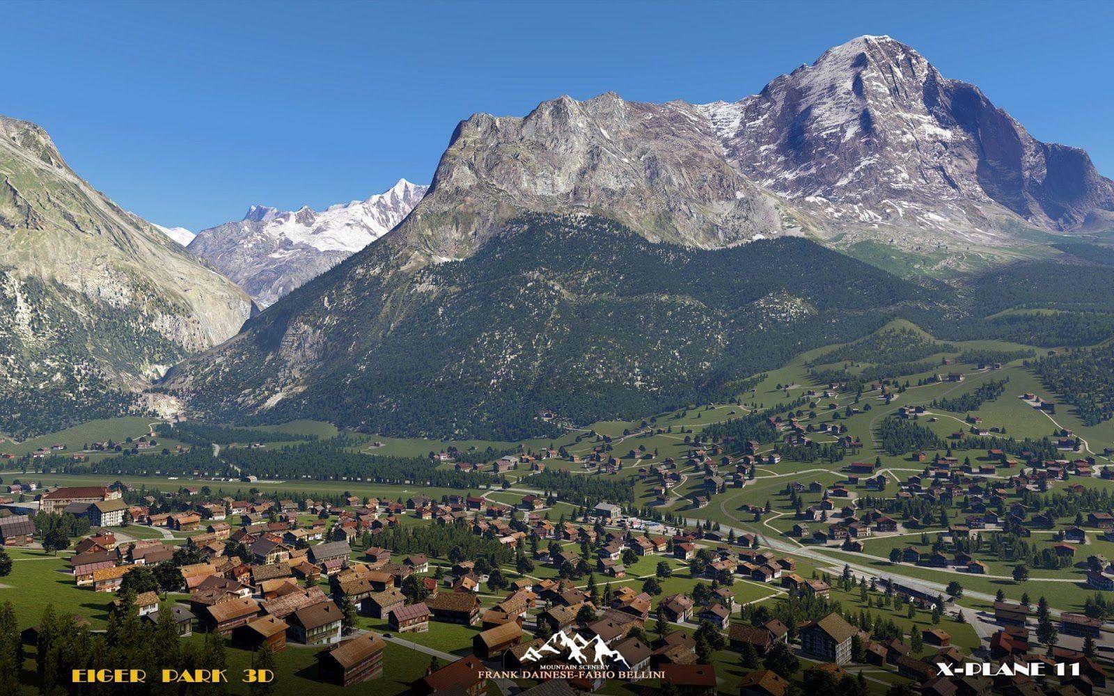 New batch of screenshots of Eiger Park 3D for X-Plane