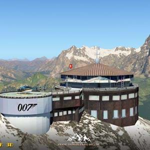 Screenshots: Piz Gloria will be a part of the Eiger 3D scenery for X-Plane