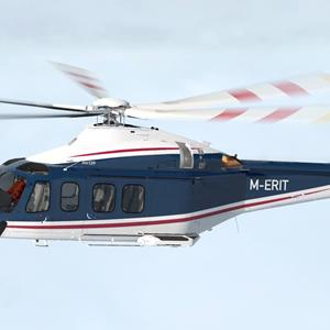 M-ERIT Repaint for the X-Rotors AW139 for X-Plane