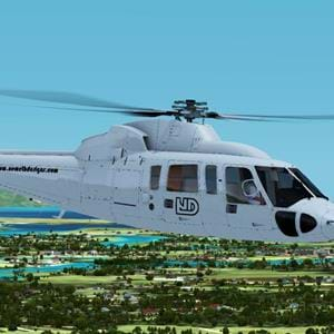 Nemeth Designs released screenshots of their S-76 for FSX and P3D