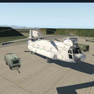 X-Trident's very early screenshots of the CH-47D for X-Plane
