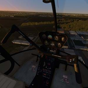 Aerofly FS2 R22 with a slightly changed flight model