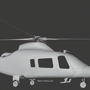 X-Rotors AW109 render preview