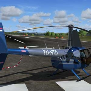 New screenshots of the MP Design Studio R44 for P3D