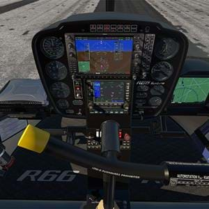 VSKYLABS released cockpit screenshots of the R66 for X-Plane