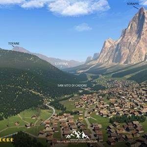 Frank Dainese and Fabio Bellini's Dolomites 3D - Cortina - Cadore is out