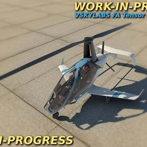 VSKYLABS announces another project: the FA Tensor 600X Project for X-Plane