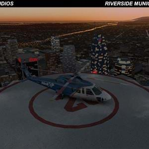 Rising Dawn Studios' Riverside Municipal and Los Angeles for X-Plane to bring helipads