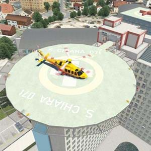 Freeware North Italy Helipads for X-Plane under development