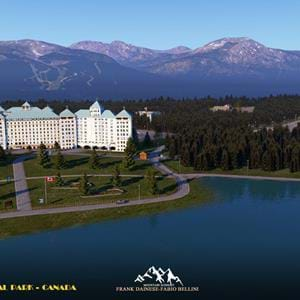 Frank Dainese and Fabio Bellini released Banff National Park UHD for X-Plane