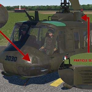 Get some optional parts for the Nimbus UH-1 for X-Plane