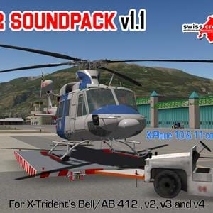 Swisscreations released X-Trident B412 sound mod for X-Plane